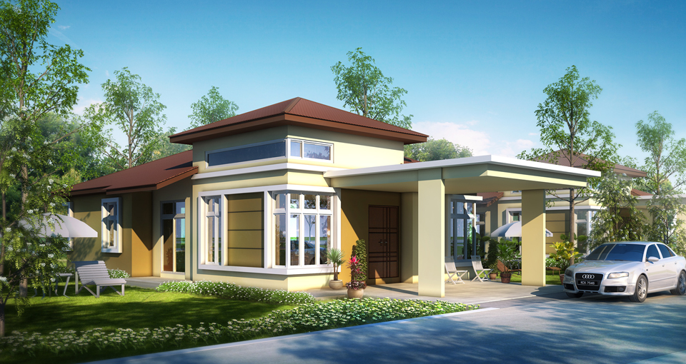Teladan setia taman belimbing setia for Single storey bungalow design