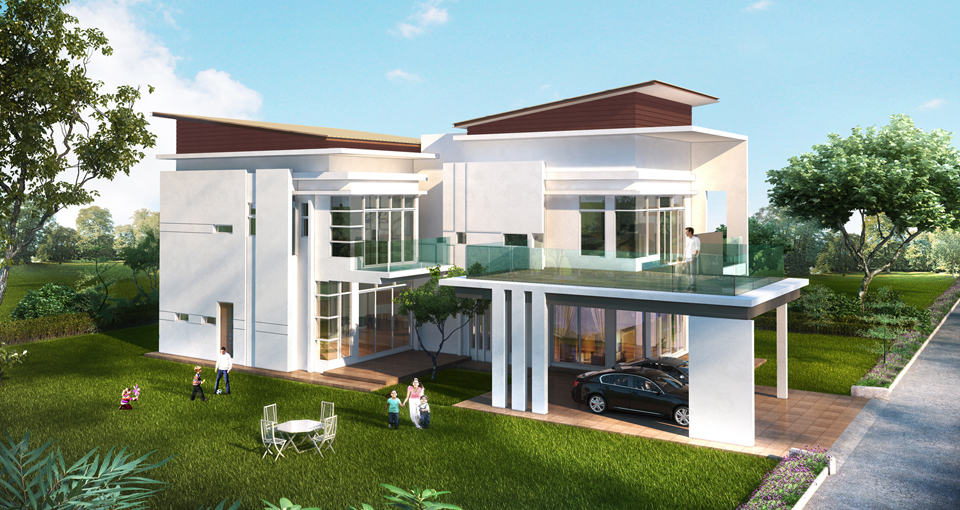 Teladan setia taman saujana heights for Double storey bungalow floor plan